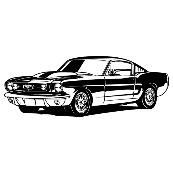 Vinilos Decorativos: Ford Mustang Shelby GT350 - 1966