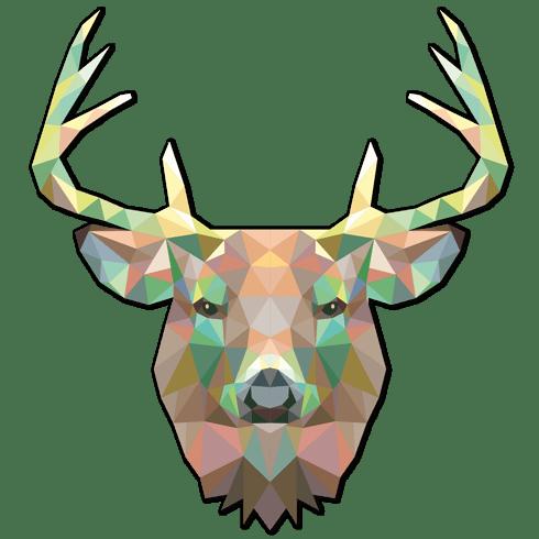 Vinilo decorativo cabeza de ciervo origami - Tete de cerf origami ...