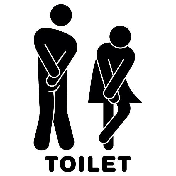 Vinilo para el ba o iconos graciosos toilet for Placas de vinilo para banos