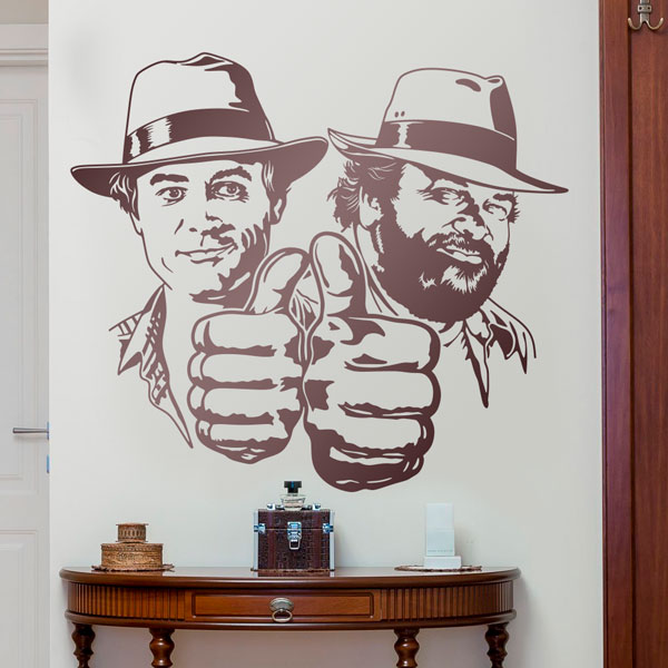 Vinilos Decorativos: Bud Spencer y Terence Hill 0