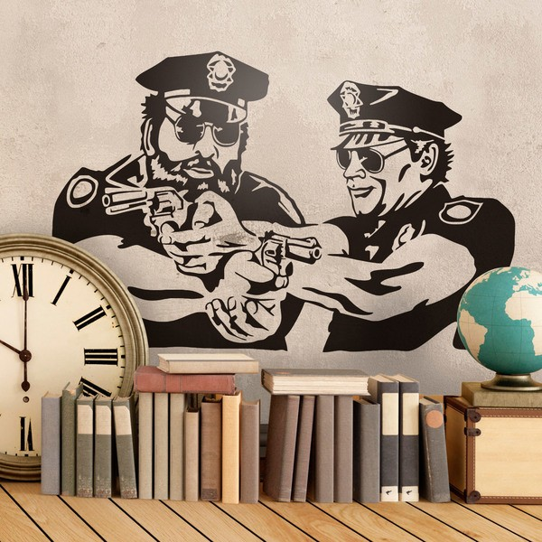 Vinilos Decorativos: Bud Spencer y Terence Hill Policias