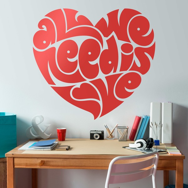 Vinilos Decorativos: Corazón All we need is love