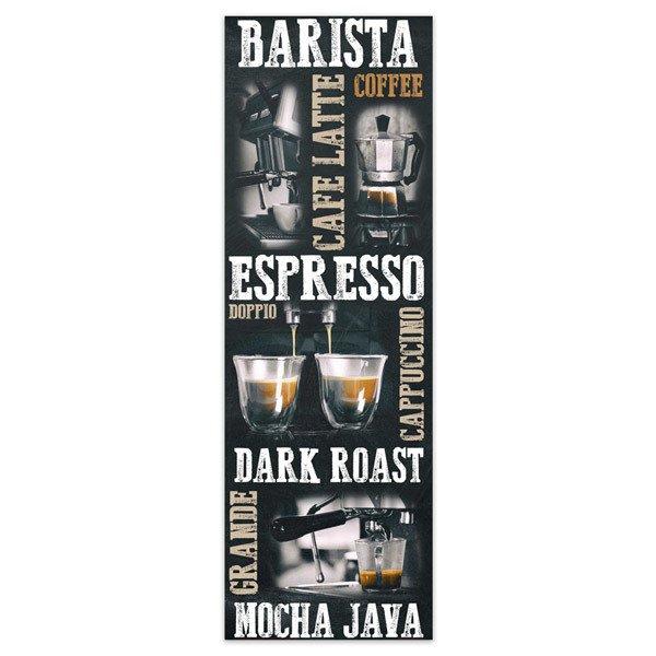 Poster adhesivo de vinilo tipos de caf - Posters de vinilo ...