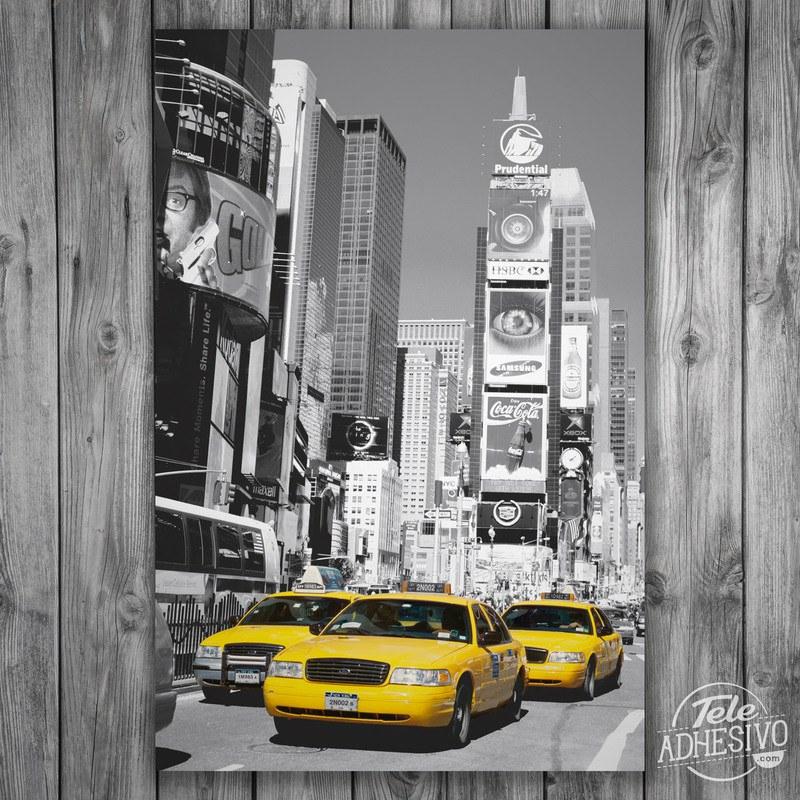 Póster en vinilo adhesivo de Times Square (Nueva York)