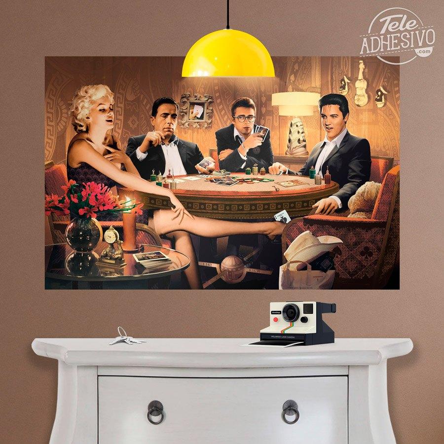 P ster adhesivo poker de estrellas de hollywood - Posters de vinilo ...