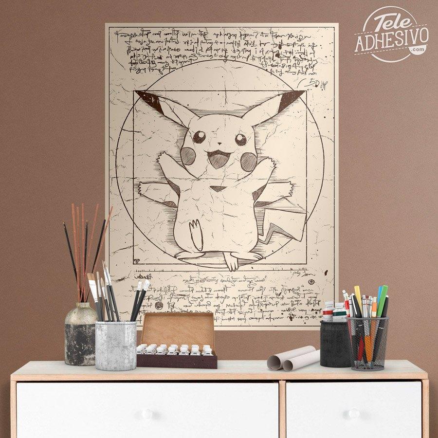 P ster adhesivo pikachu vitruvio - Posters de vinilo ...