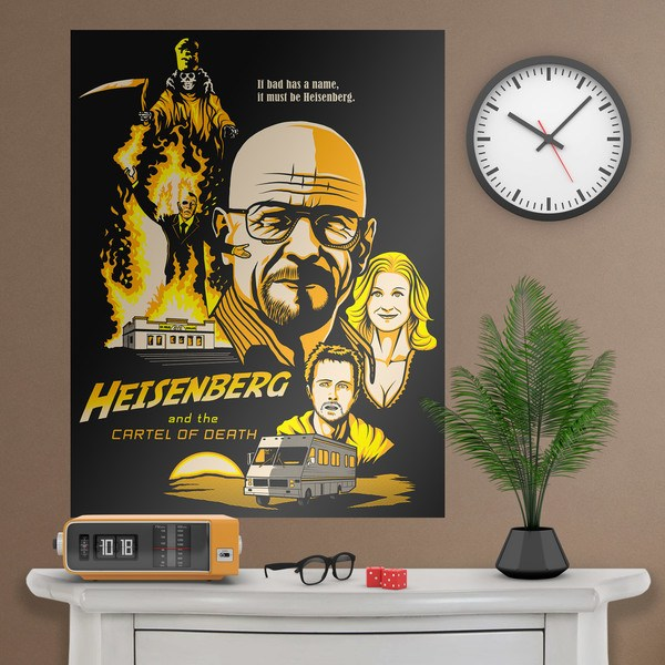 Vinilos Decorativos: Póster adhesivo Breaking Bad 1