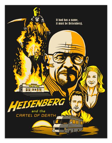 Vinilos Decorativos: Póster adhesivo Breaking Bad 0