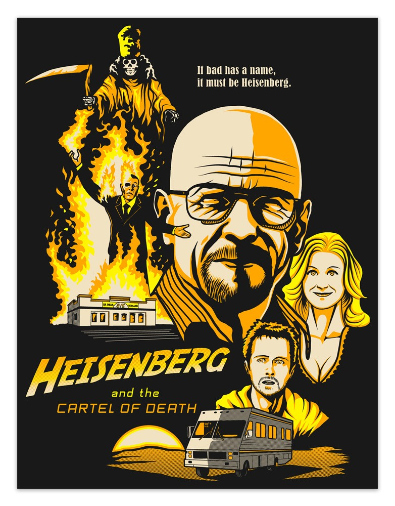 Vinilos Decorativos: Póster adhesivo Breaking Bad
