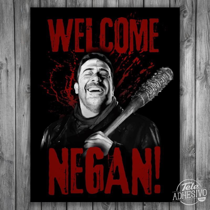 Póster en vinilo adhesivo de Negan (The Walking Dead)