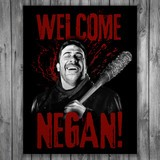 Vinilos Decorativos: Póster adhesivo Welcome Negan TWD 3