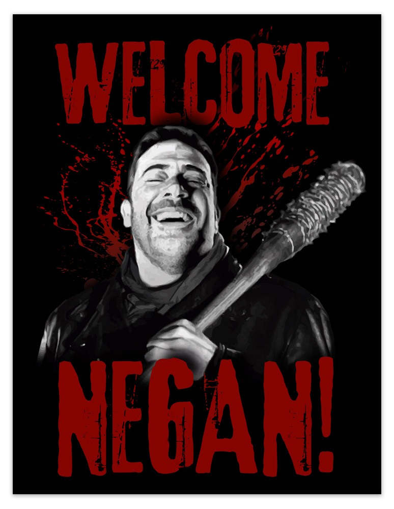 Vinilos Decorativos: Póster adhesivo Welcome Negan TWD