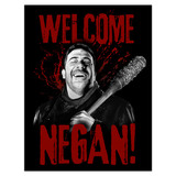 Vinilos Decorativos: Póster adhesivo Welcome Negan TWD 4