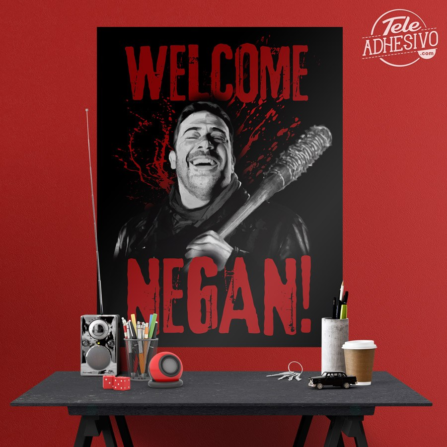 Vinilos Decorativos: Póster adhesivo Welcome Negan TWD 5