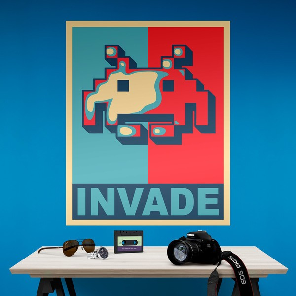 P ster adhesivo invader obama style - Posters y vinilos ...