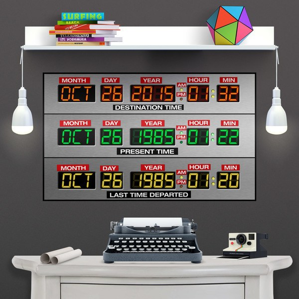 Vinilos Decorativos: Póster adhesivo DeLorean Time Panel