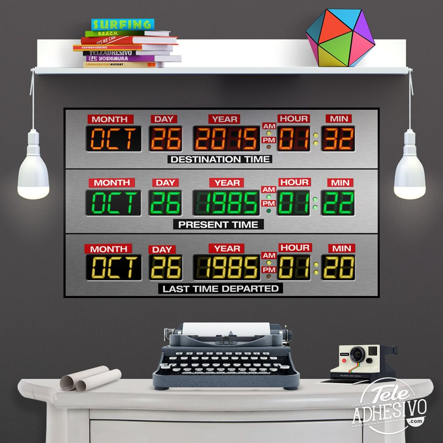 Vinilos Decorativos: DeLorean Time Panel 5