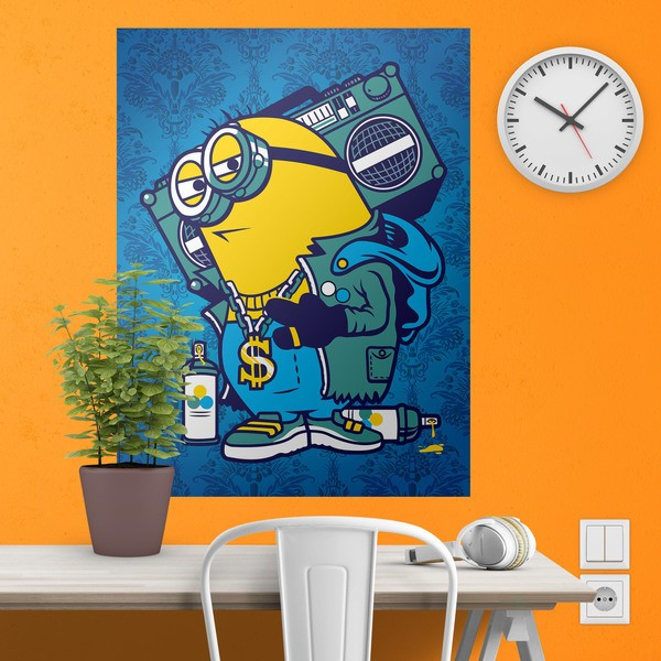 Vinilos Decorativos: Póster adhesivo Minion Bomb Box Graffiti 1