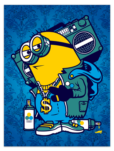 Vinilos Decorativos: Póster adhesivo Minion Bomb Box Graffiti