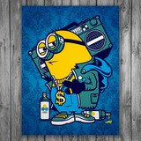 Vinilos Decorativos: Póster adhesivo Minion Bomb Box Graffiti 3