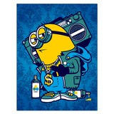 Vinilos Decorativos: Póster adhesivo Minion Bomb Box Graffiti 4