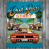 Vinilos Decorativos: Póster adhesivo Out Run Arcade 3