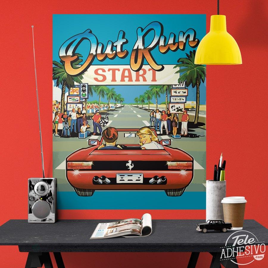 P ster adhesivo out run arcade - Posters de vinilo ...