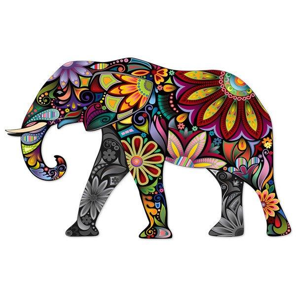 Vinilo Decorativo Elefante Hindú Teleadhesivocom