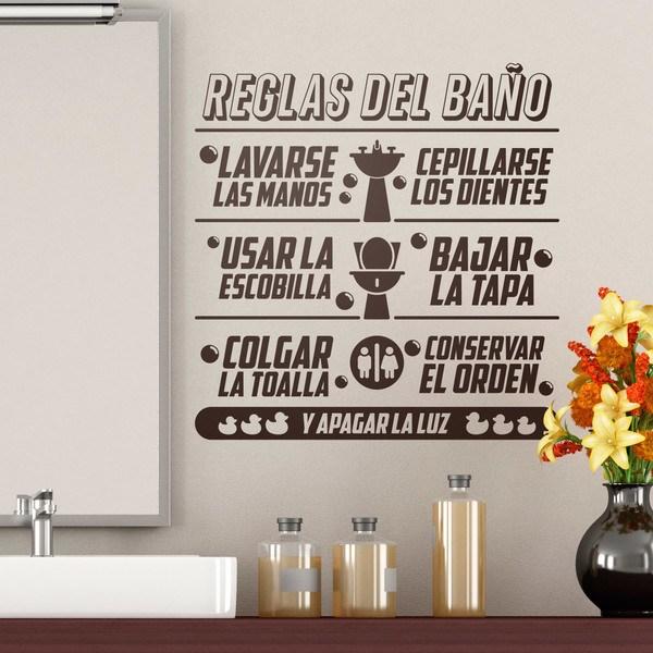 interesting vinilos decorativos reglas del bao with vinilos para espejos