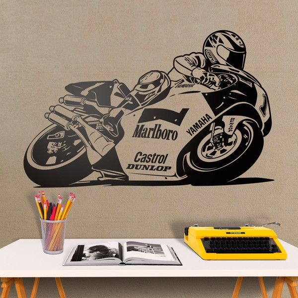 Vinilos Decorativos: Moto Yamaha Wayne Rainey