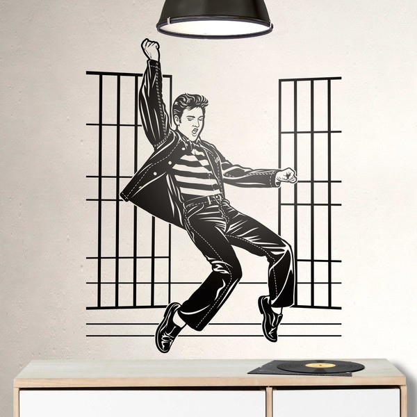 Vinilos Decorativos: Elvis Presley Jailhouse Rock 0