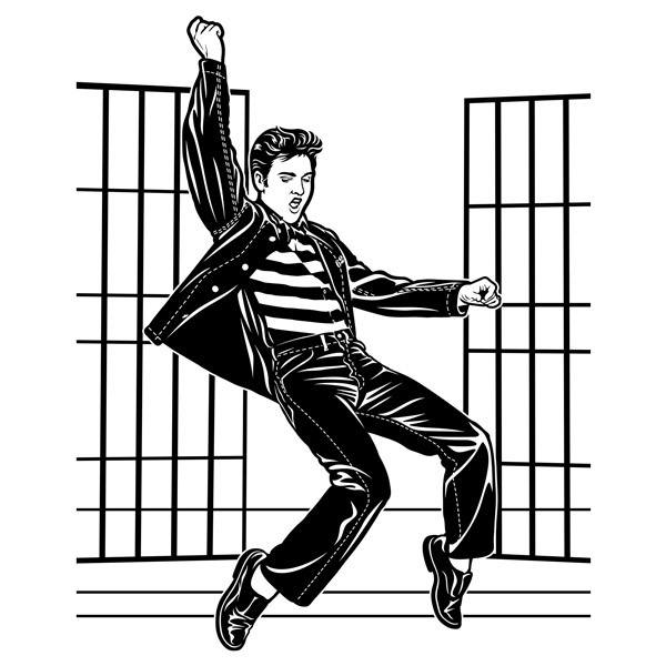 Vinilos Decorativos: Elvis Presley Jailhouse Rock