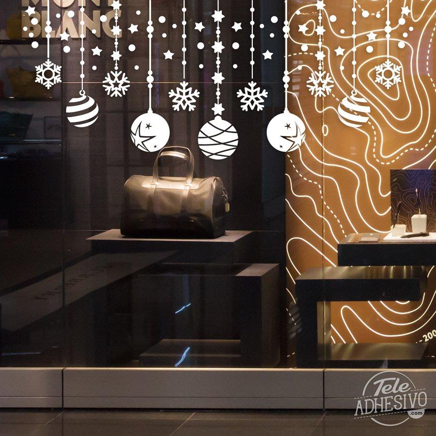 Composici n navide a de bolas y estrellas for Vinilos pared navidad