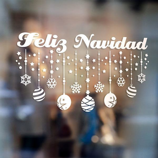 Decoraci n feliz navidad for Vinilos decorativos navidad