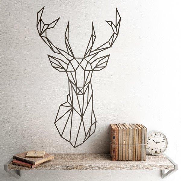 Vinilo decorativo de cabeza de ciervo