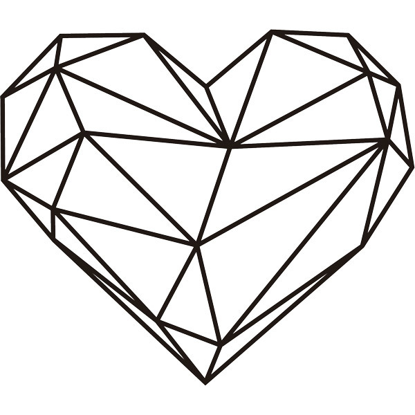 Vinilo decorativo Origami geométrico corazón