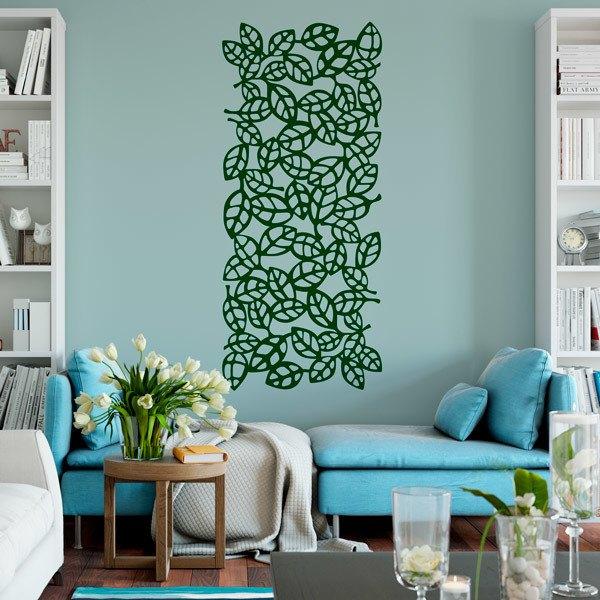 Vinilo decorativo Lámina estampado ornamental de hojas 6
