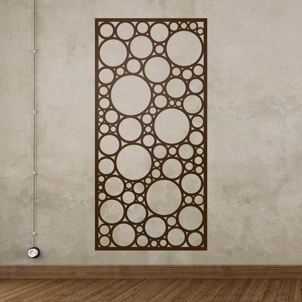 Vinilo decorativo l mina estampado abstracto de c rculos for Laminas vinilo pared