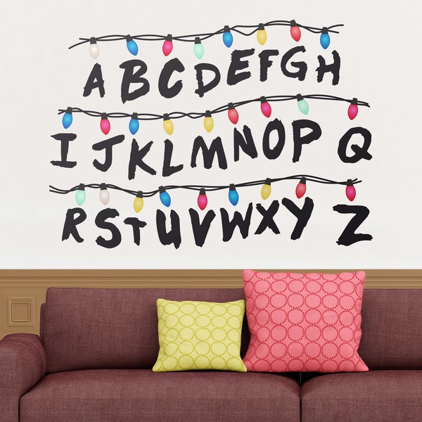 Vinilo decorativo de pared del abecedario de Stranger Things