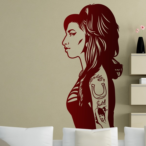 Vinilos Decorativos: Amy Winehouse 0