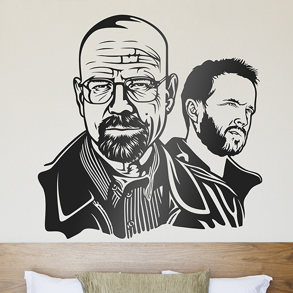 Vinilos Decorativos: Breaking Bad Walter White y Jessie Pinkman 0
