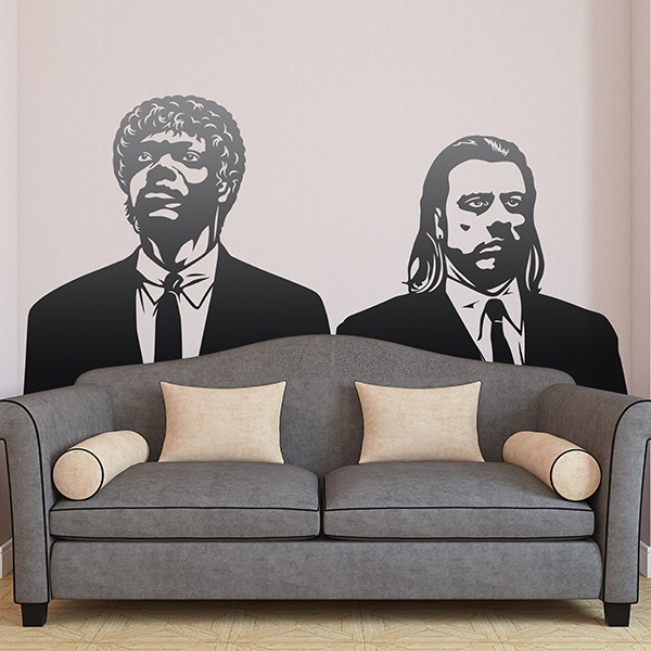 Vinilos Decorativos: Pulp Fiction, Vincent y Jules 0