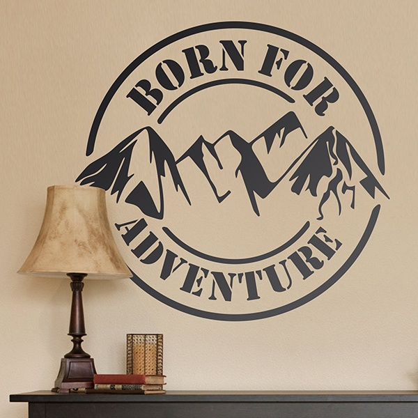 Vinilos Decorativos: Born for Adventure
