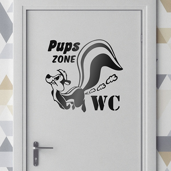 Vinilos Decorativos: Pups zone WC