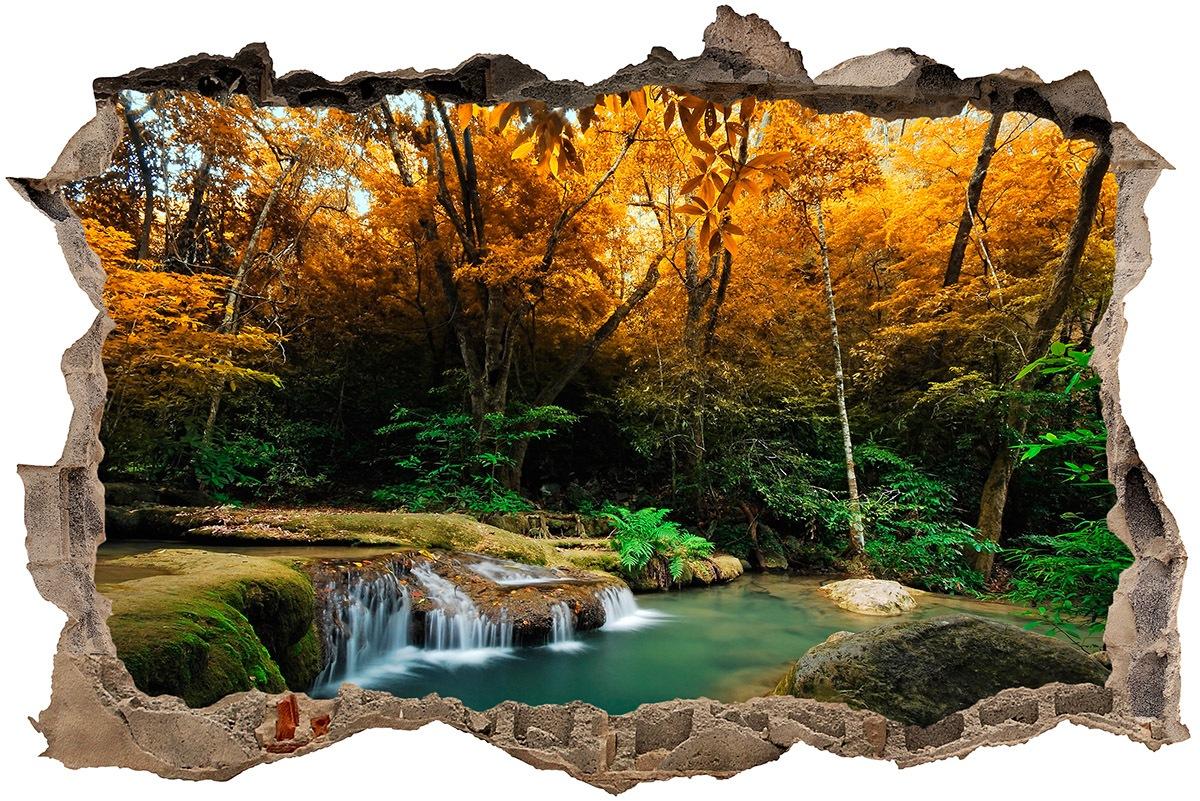 Vinilo original con paisaje de un Manantial en el bosque