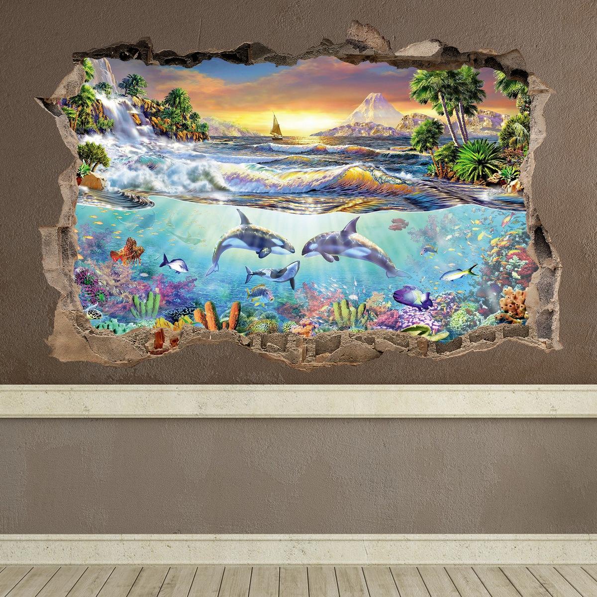 Compra vinilos con vistas a paisajes marinos teleadhesivo for Vinilos murales paisajes