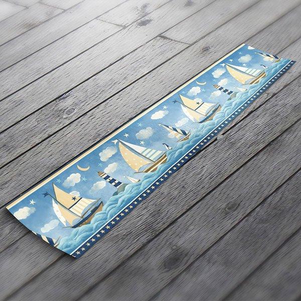 vinilos decorativos cenefa barcos
