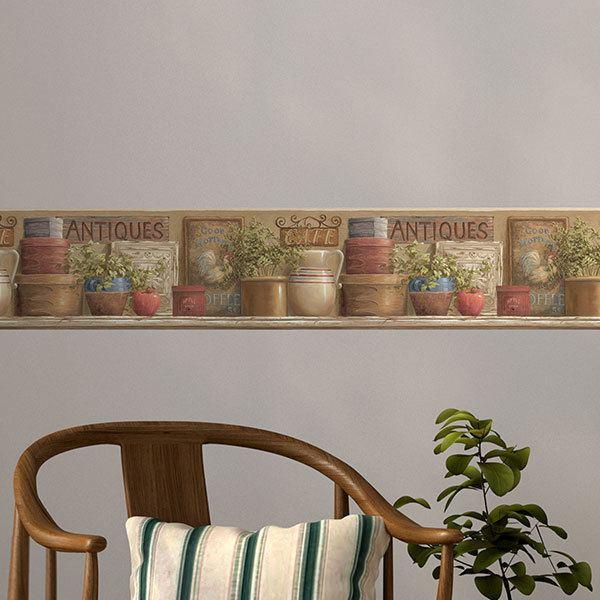 Vinilos decorativos de cenefas adhesivas teleadhesivo - Cenefas cocinas modernas ...