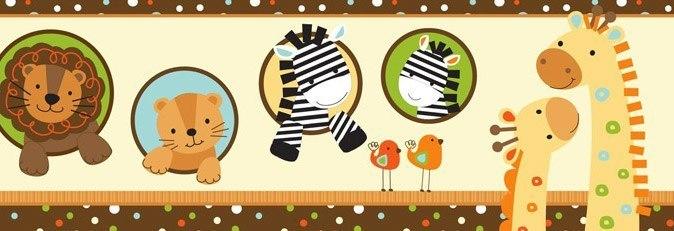 Cenefa adhesiva infantil animales infantiles - Cenefas decorativas infantiles ...