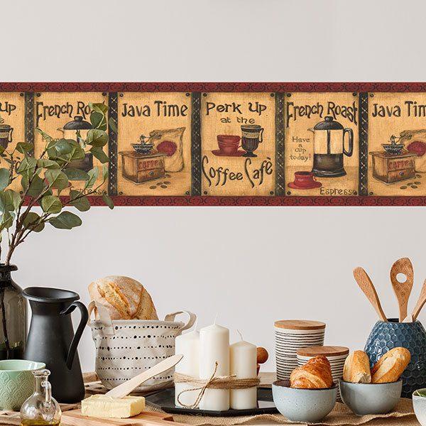 Cenefas de vinilo para la pared teleadhesivo for Decoracion con cenefas de papel
